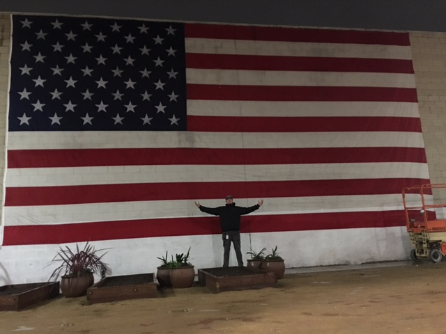 Midnight and Flag is Hung by Jason 2-7-17
